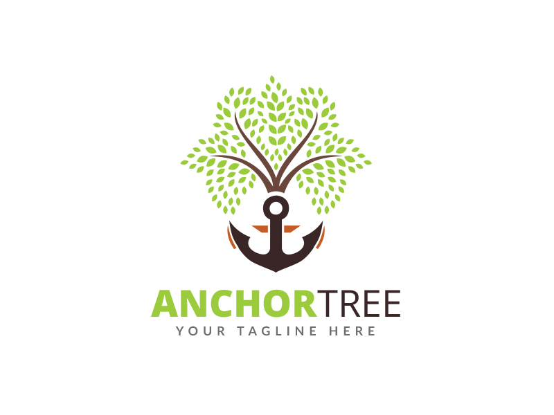 Anchor Tree Logo by Maraz1971  a perfect logo for Agriculture