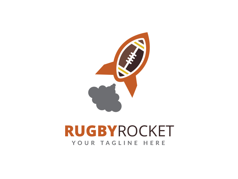 Rugby Rocket Logo by Maraz1971  a perfect logo for Games & Recreation