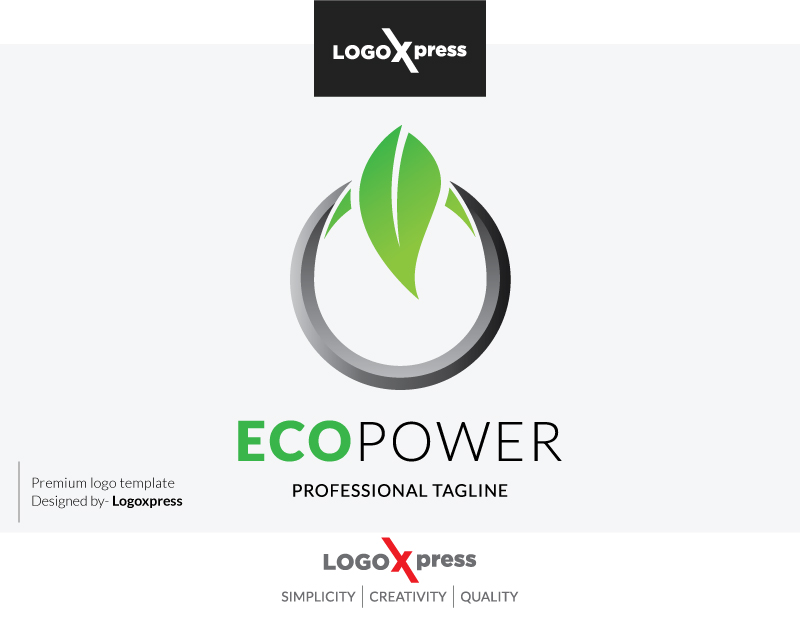 Eco Power Logo by Logoxpress  a perfect logo for Technology