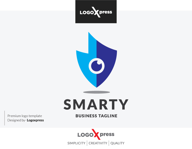 Smart Security Eye Logo by Logoxpress  a perfect logo for Security