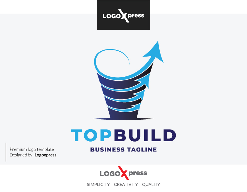 Top Build Real Estate Logo by Logoxpress  a perfect logo for Real Estate & Mortgage