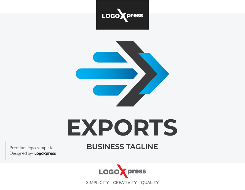 Letter E - Exports Logo by Logoxpress  a perfect logo for Business & Consulting