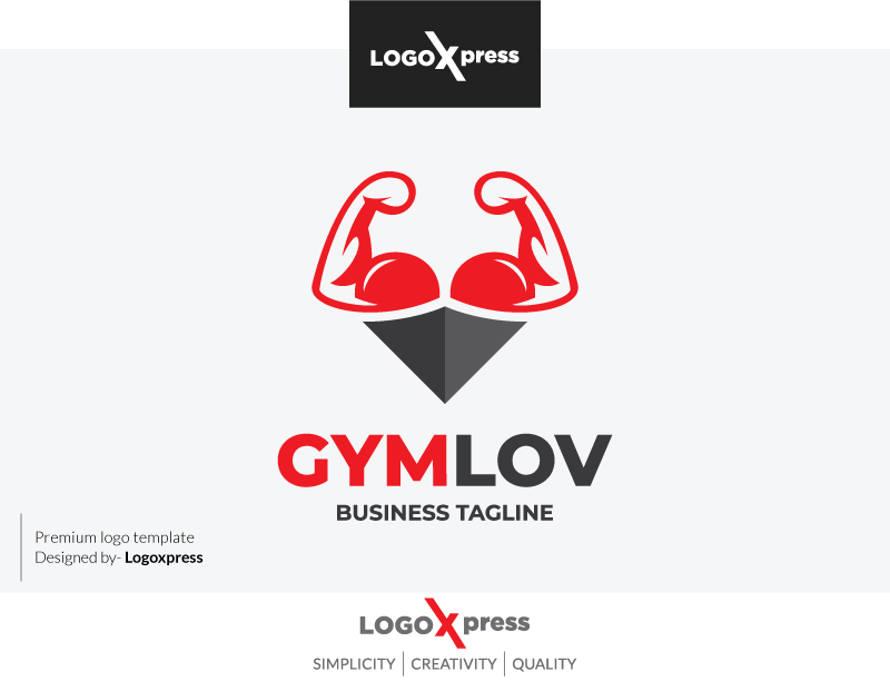 GYM Lover Logo by Logoxpress  a perfect logo for Sports
