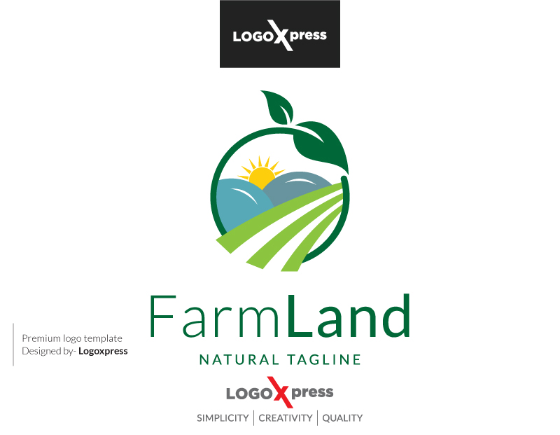 Farm Land - The Agriculture Logo by Logoxpress  a perfect logo for Accounting & Financial