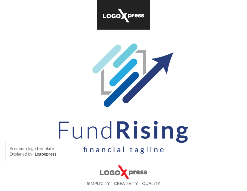 Fund Rising - Accounting & Financial Logo by Logoxpress  a perfect logo for Accounting & Financial