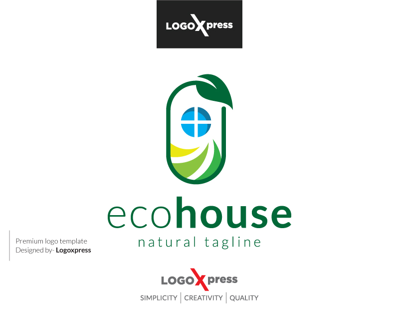 Eco House Logo by Logoxpress  a perfect logo for Agriculture