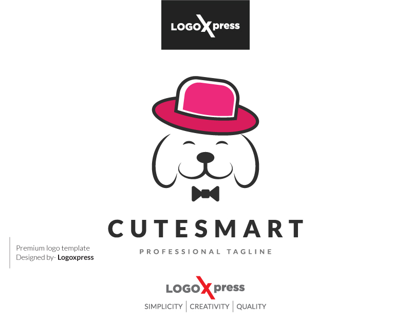 Cute & Smart Dog Logo by Logoxpress  a perfect logo for Animals & Pets