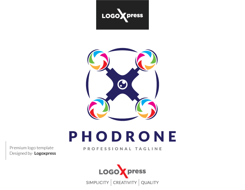 Colorful Photography Drone Logo by Logoxpress  a perfect logo for Wedding Services