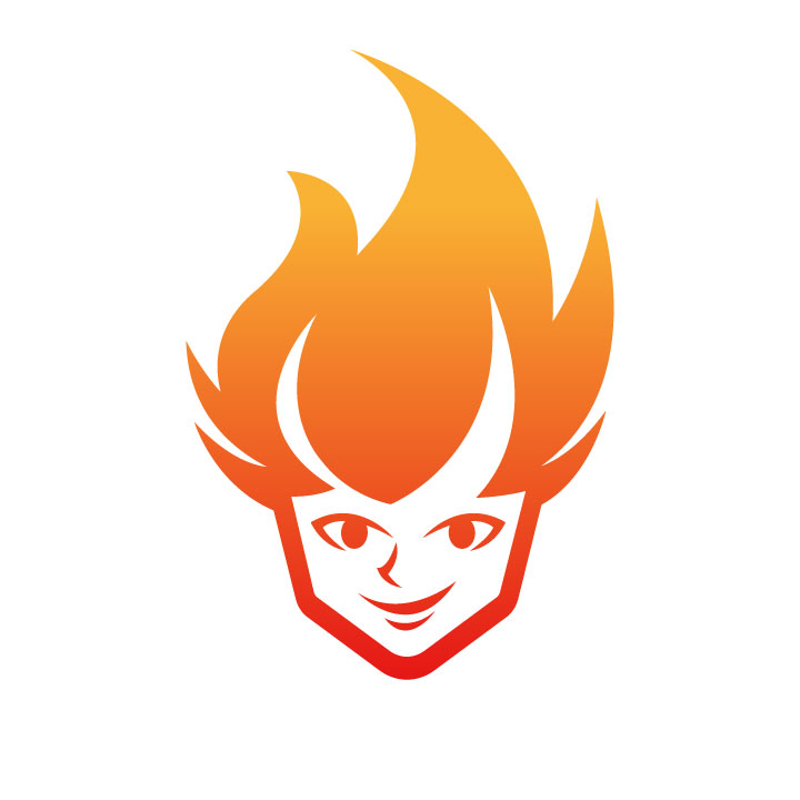 Fire head  by Victory Graphics  a perfect logo for Retail