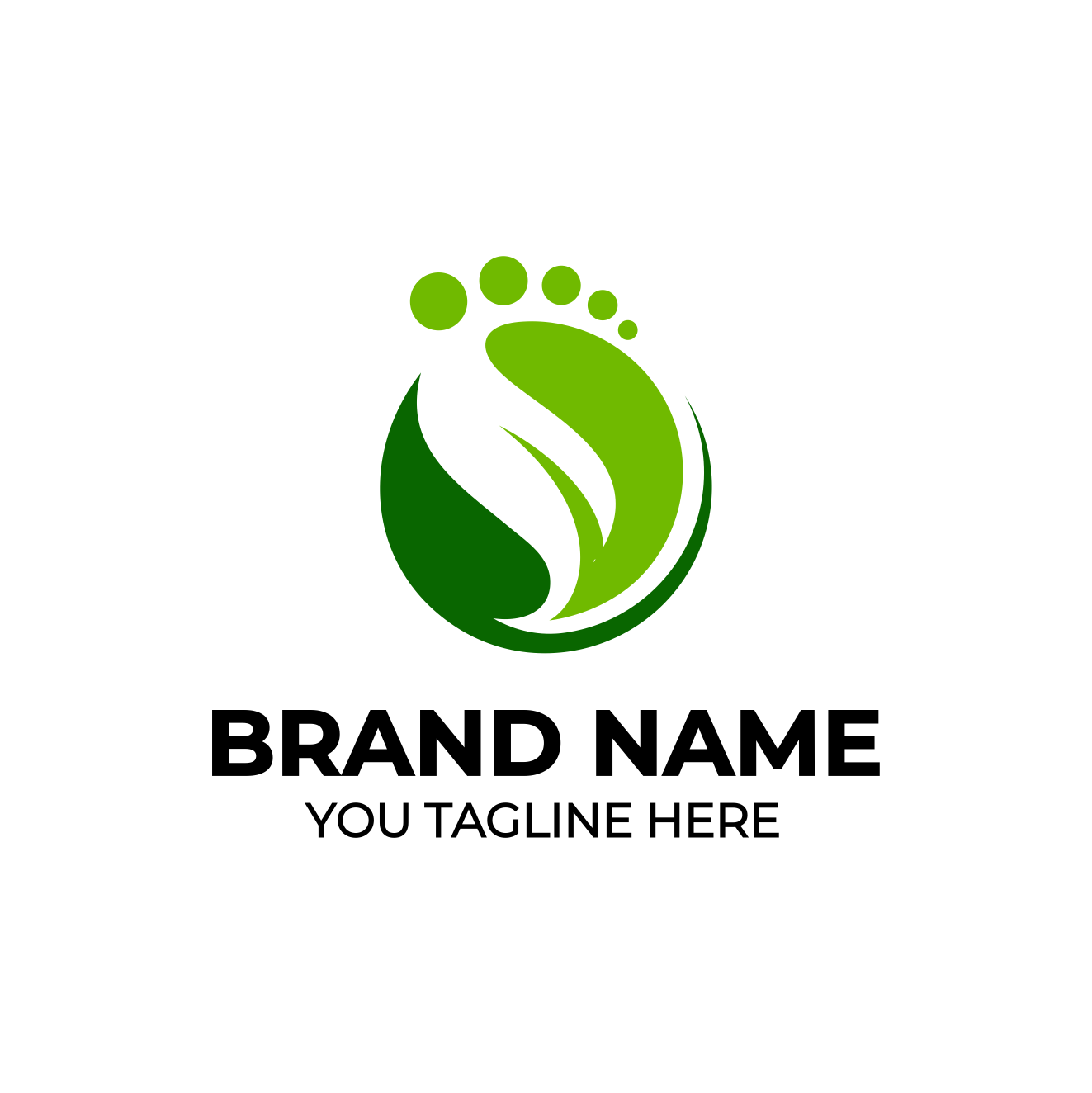 Foot Logo by Imageline  a perfect logo for Spa & Esthetics
