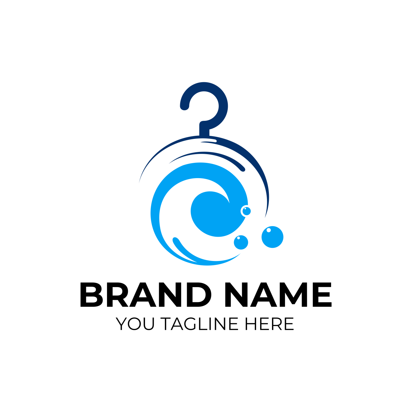 Laundry Logo by Imageline  a perfect logo for Cleaning & Maintenance