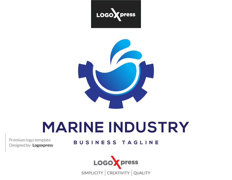 Blue Ocean - Marine Industry Logo by Logoxpress  a perfect logo for Travel & Hotel