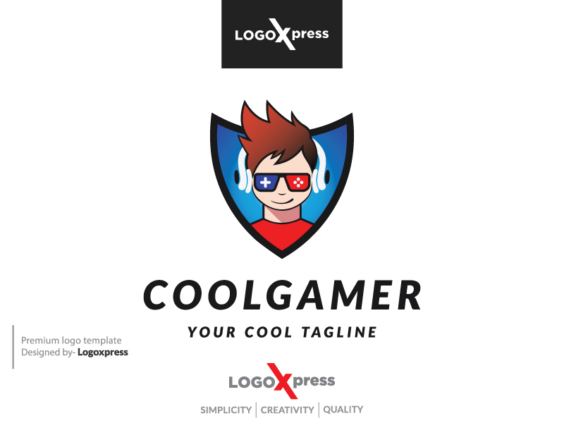 Cool Gamer Logo by Logoxpress  a perfect logo for Technology
