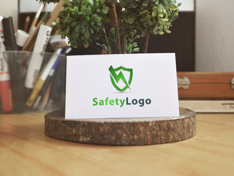 Safety Shield Logo by Musique Design  a perfect logo for Technology