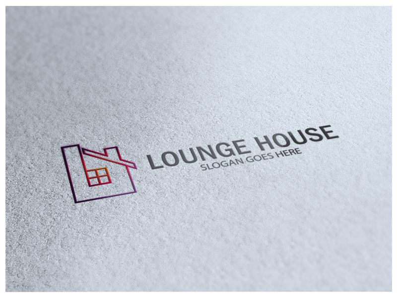 Lounge House by Logic6  a perfect logo for Home Furnishings