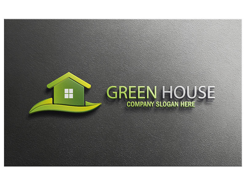 Green House by Logic6  a perfect logo for Home Furnishings