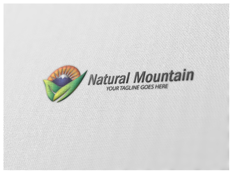 Natural Mountain by Logic6  a perfect logo for Agriculture