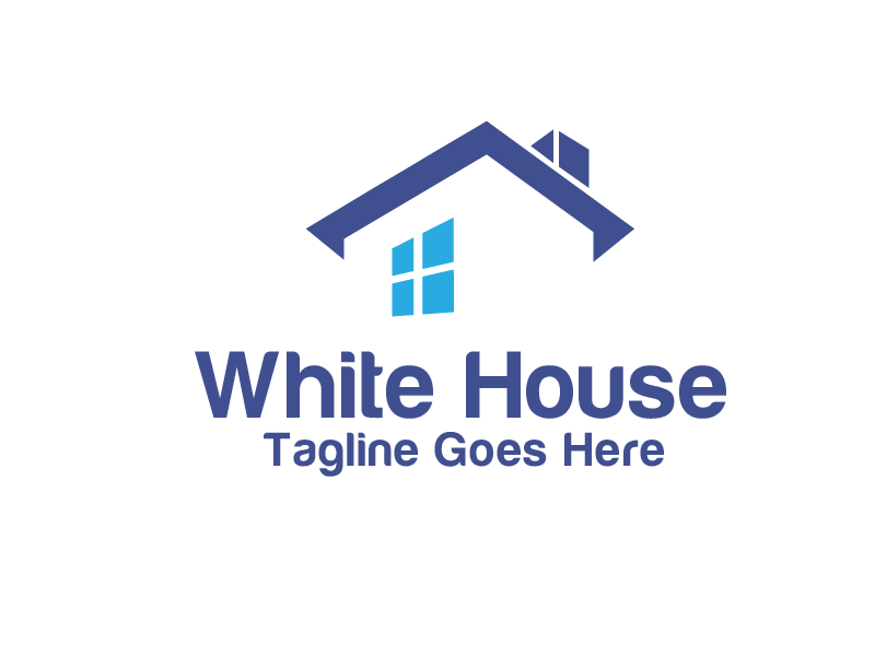 white house by krustovin  a perfect logo for Home Furnishings