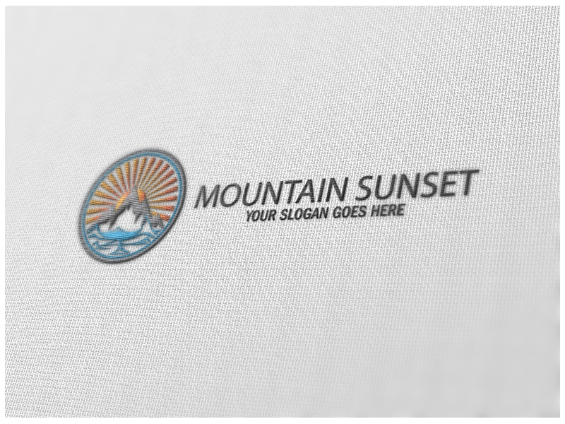 Mountain Sunset by Logic6  a perfect logo for Entertainment & The Arts