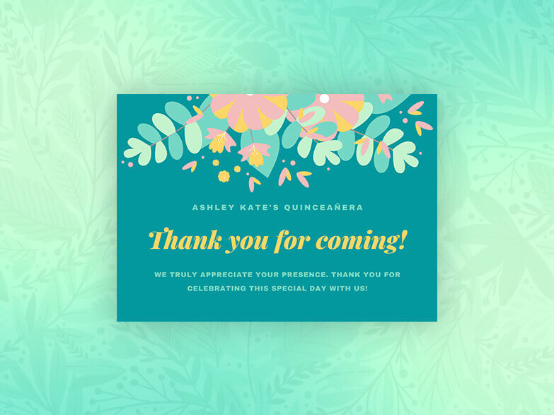 Quinceanera Card Maker
