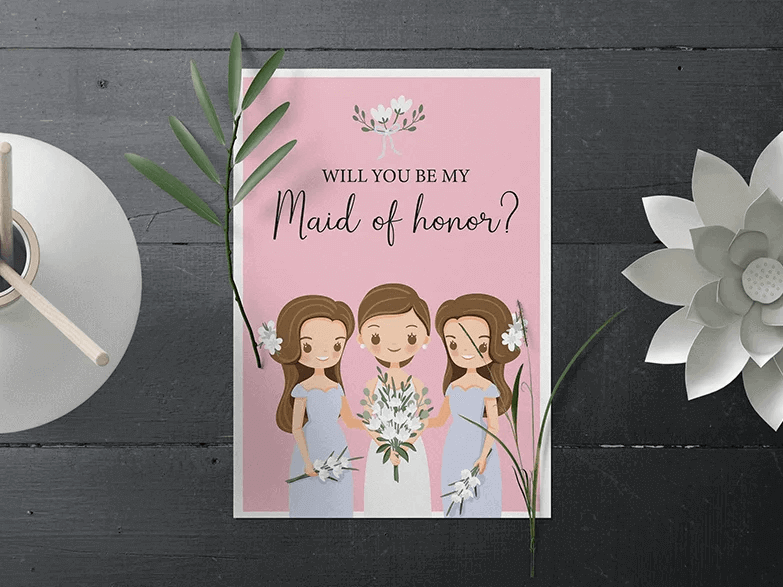 Will You Be My Bridesmaid Card Maker
