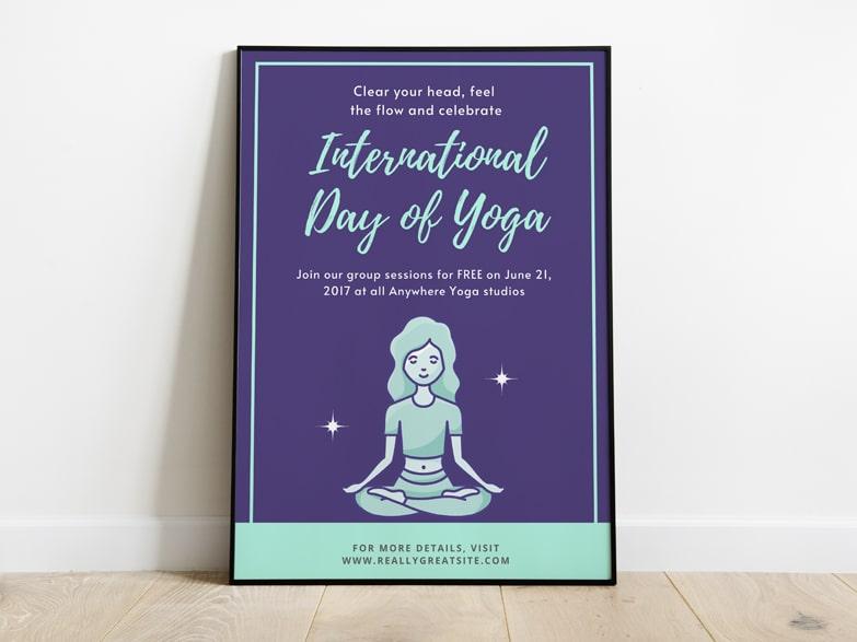 International Day of Yoga Poster Maker