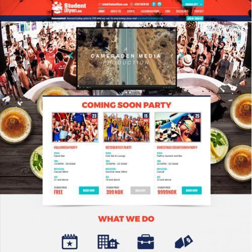 StudentiByen Webpage Design
