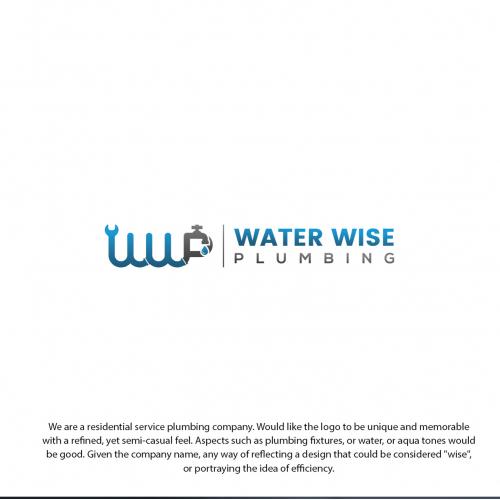 Plumbing logo and business card design.