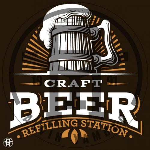 Craft Beer Refilling station LOGO Design