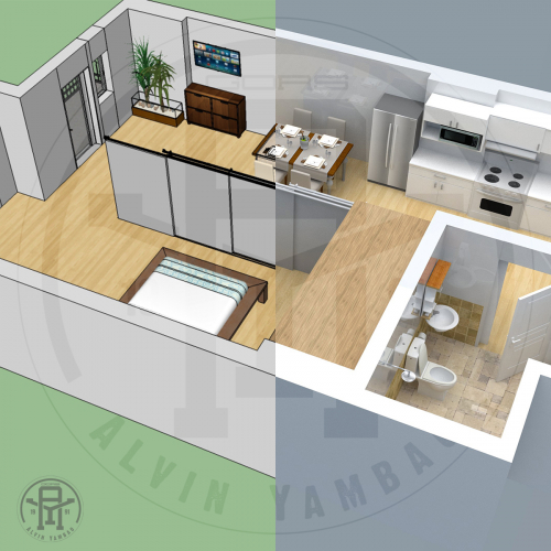 Condominium Unit Design / 3D Render Project