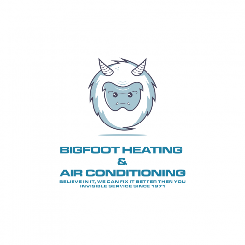 this is a bigfoot logo design .. for the company heat a