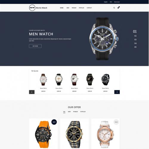 Moritz Watch eCommerce