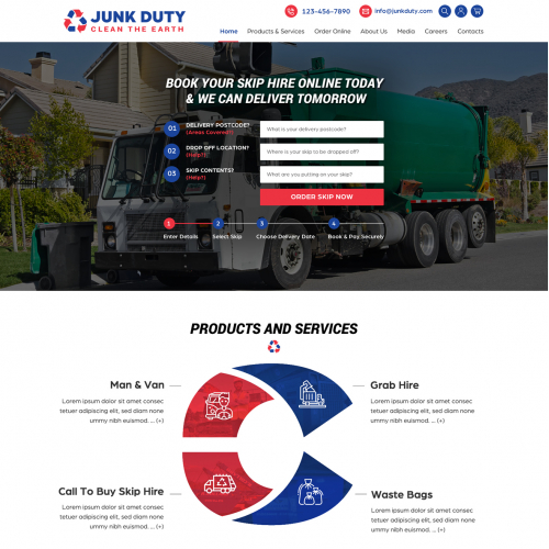 Skip Hire Waste Removal Company  Website