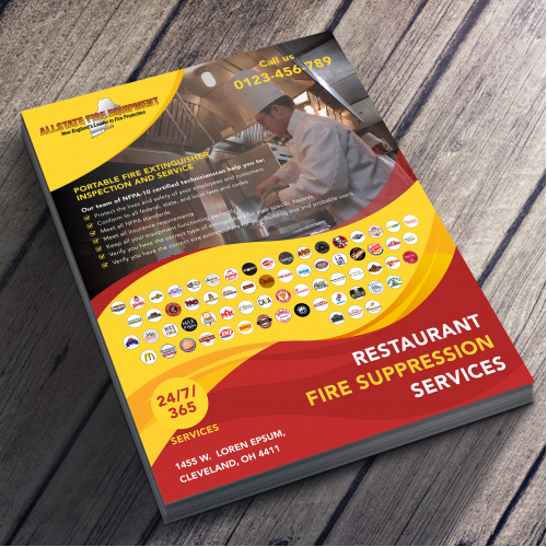 Flyer design for a Fire Equipment Company