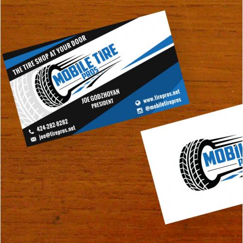 Businesscard for a Auto Tire Shop