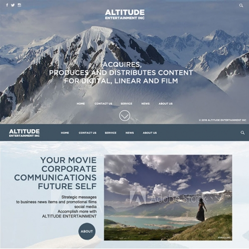 Altitude website design