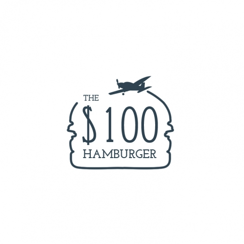 The hunder dollar hamburger Logo