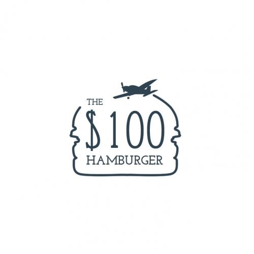The hunder dollar hamburger Logo