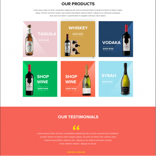 Drinks E-commerce Index Page - Website