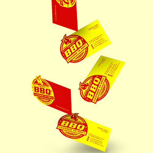 Axpress BBQ Business Card Design