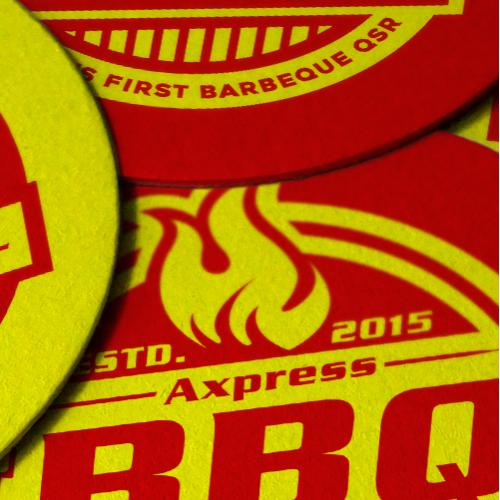 Axpress BBQ Coaster Design