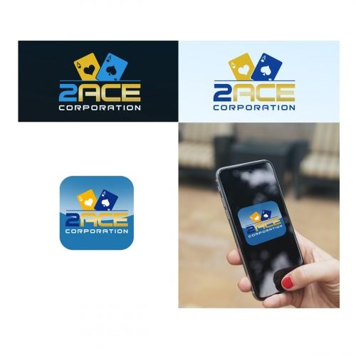 2 Aces logo design