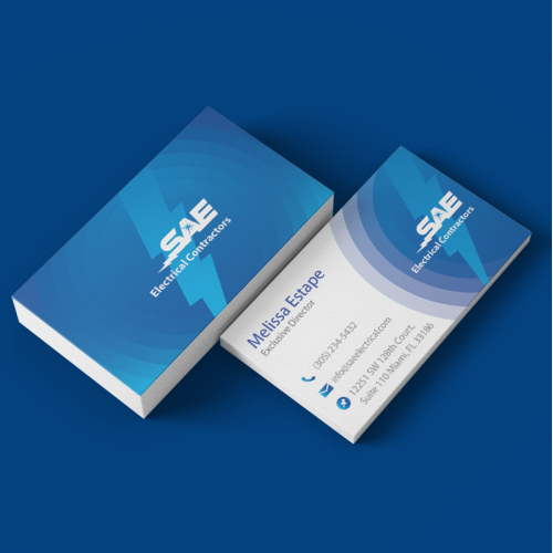 Design business card for SAE Electrical Contractor