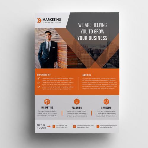 Orange Corporate Business Flyer Design