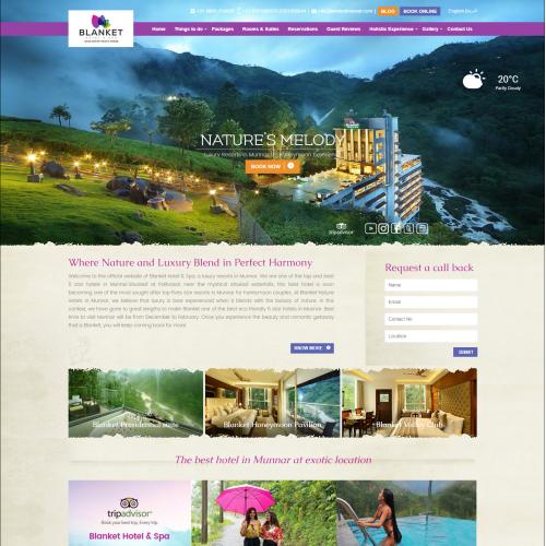 Customized Webite Design for a 5 star Hotel Resort
