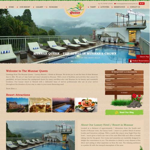 Website Design for a Luxury Resort