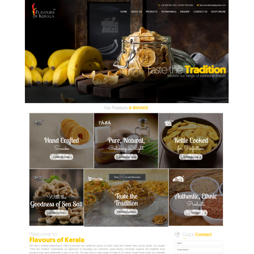 Website design for Food