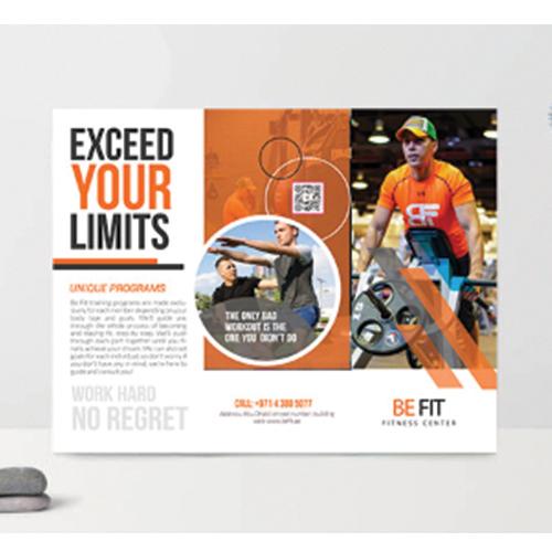 Brochure design for Be Fit
