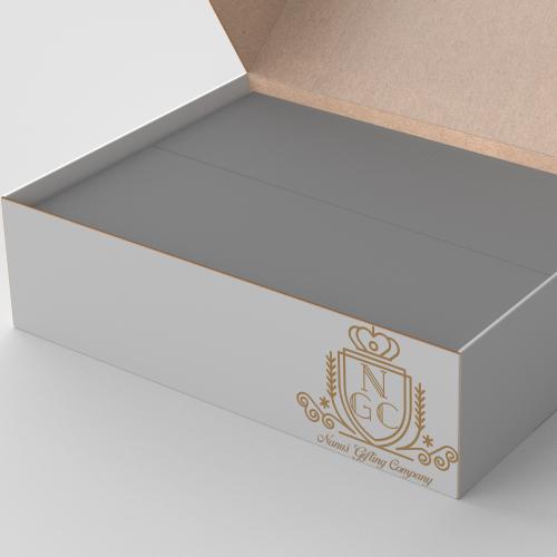 Maqueta caja Kraft personalizada