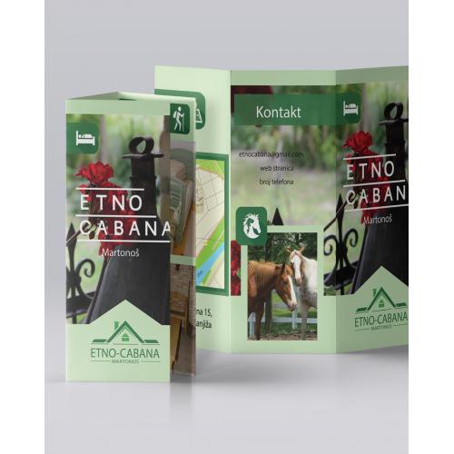 Trifold Leaflet Etno-Cabana
